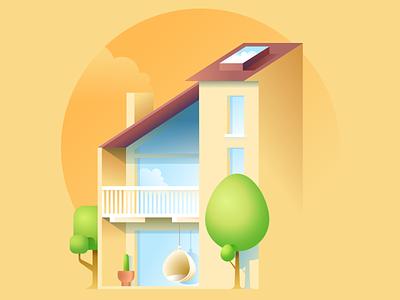 """The Sea Ranch"" house vector illustration midcentury midcenturymodern architectural illustration architectural design architecture"