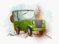 Muddy tires drawings ipad pro ipadpro sketch illustration offroad jeep vehicle car