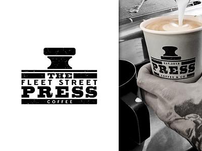Fleet Street Press Logo logotype london cafe press fleet brand logo coffee