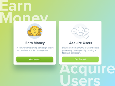 Ad Cards visual product startup dashboard revenue ad card ux ui