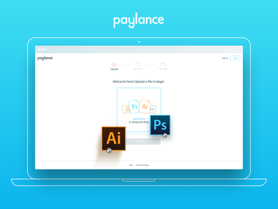 Paylance Uploader layout design web upload psd ai startup ui ux product icon file