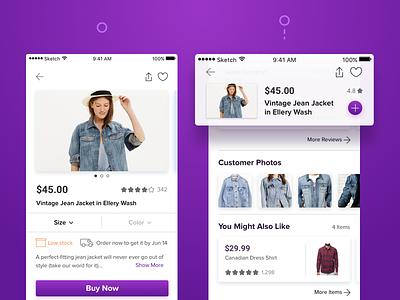 Scroll Behavior • eCommerce App dribbble search marketplace home ecommerce shop eshop store app ux ui
