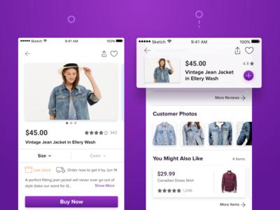 Scroll Behavior • eCommerce App