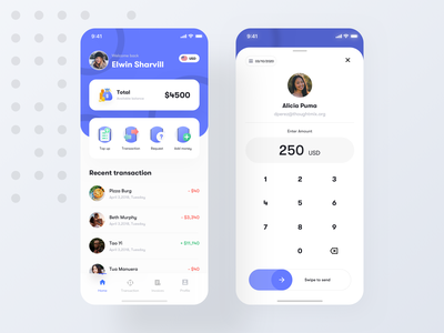 Wallet app Exploration card calender clean payment ui bitcoin web transaction crypto fintech finance exchange mobile transfer wallet creative budget