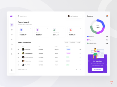 Transaction web app design dashboard concept concept app website exploration minimal profile subcriptions search web design expense paid credit card dashboard ui reports bill ui web app app design ui