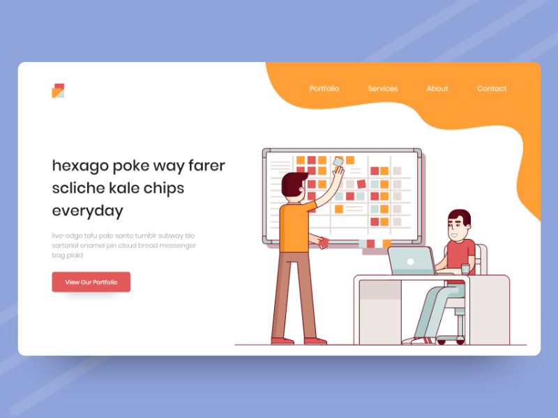 REDEV Landing Page isometric website concept color ux ui exploration landing page
