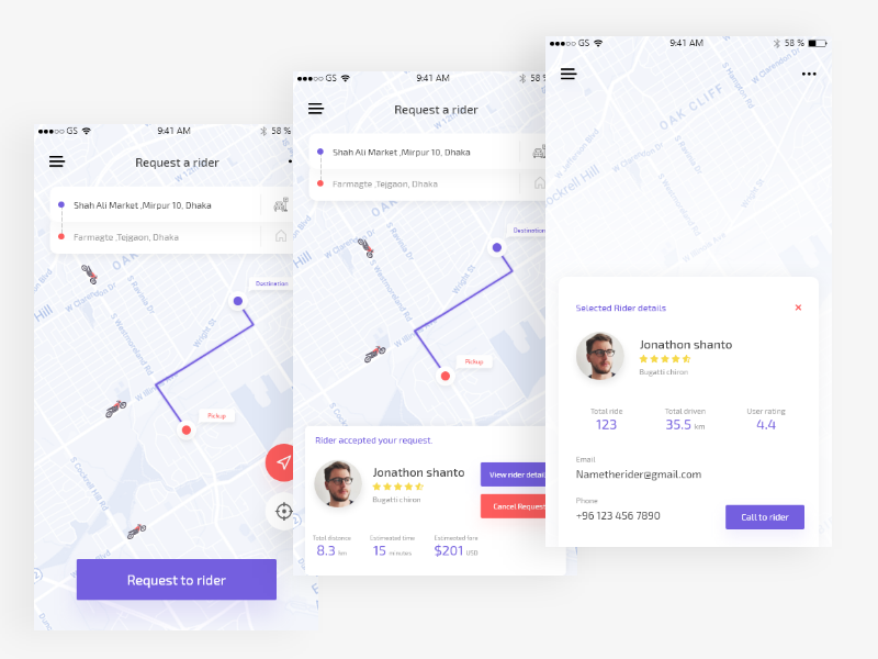 Ride sharing app | exploration