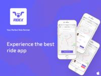 RIDEX - The ride sharing app
