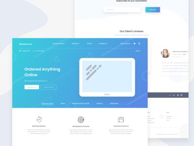 Rakubonu.Com - Landing Page Design exploration