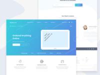 Rakubonu.Com Landing Page Design exploration