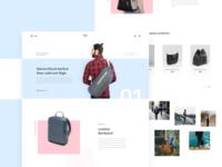 Bagpack Shop Landing Page Design Dribbble