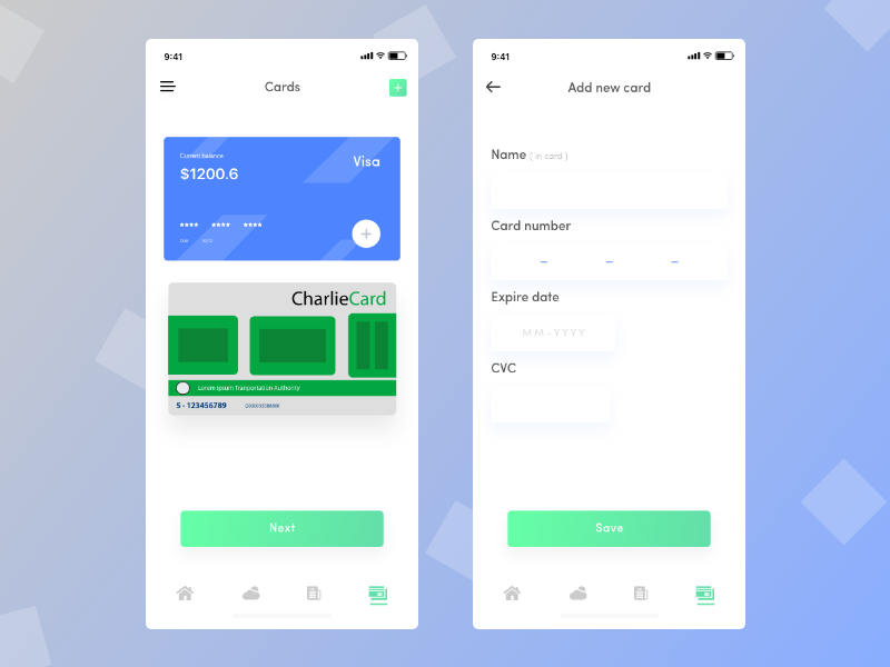 Subway app exploration 2 payment app design card visa charlie card ui car pooling app payment method payment app subway app train app ride sharing app ride app ios app app