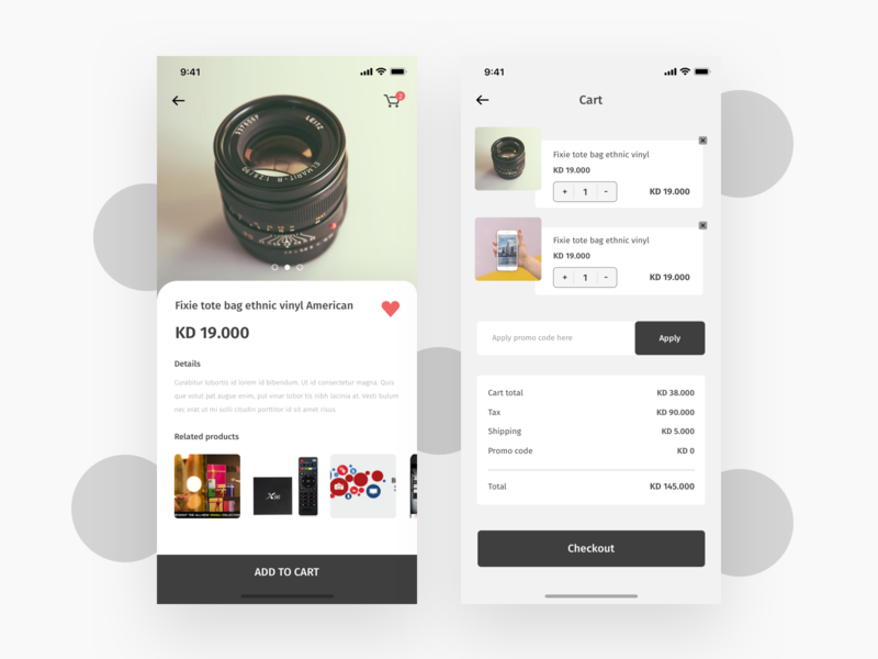 Ecommerce app Concept + 2 dribbble invitations invitation dribbble invite invite favorite promo code checkout page android app design ios app design mobile app design exploration minimal concept app single product add to cart ecommerce app app design app