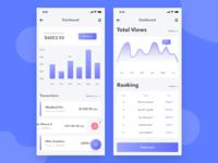 Instagram shot mobile app dashboard ui concept