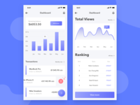 Mobile App Dashboard UI Concept