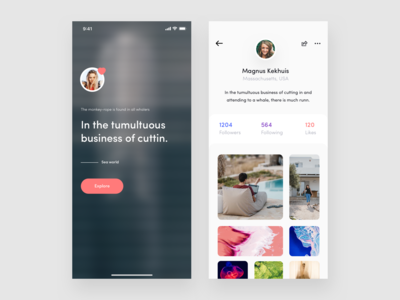 Profile App designs, themes, templates and downloadable