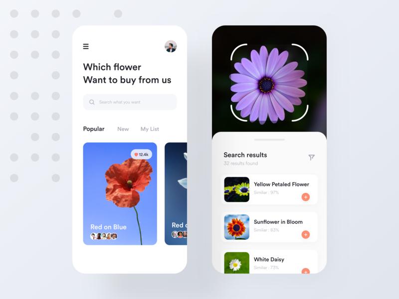 Flower UI exploration flower adobe xd dashboard sketch concept app exploration ui design ios app color search green iot mobile plant data app minimal app design ux