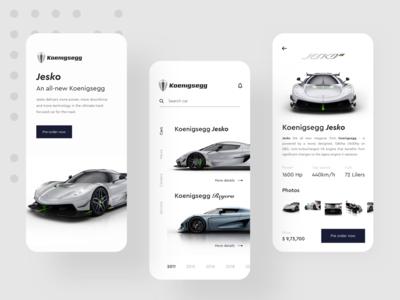Koenigsegg App Design Concept