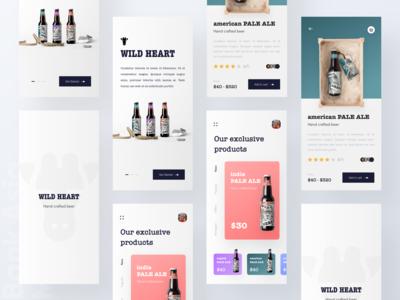 Beer shop online platform UI