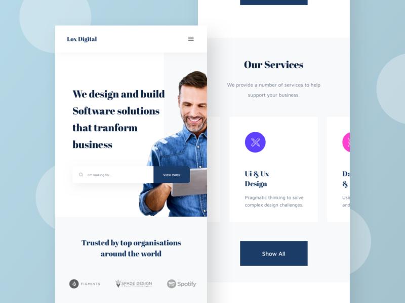SAAS Agency Landing Page - Mobile responsive design