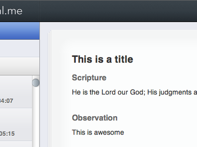 Page ipad sproutcore devotions bible