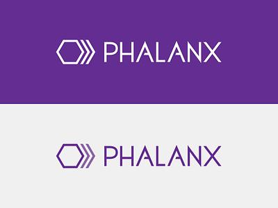Phalanx branding design logo