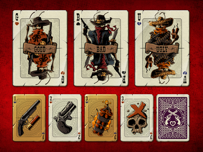 Cards from Blood will be Spilled user interface game art illustraion