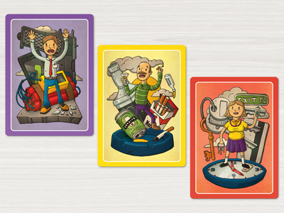 Occupational safety and health course card game illustration card