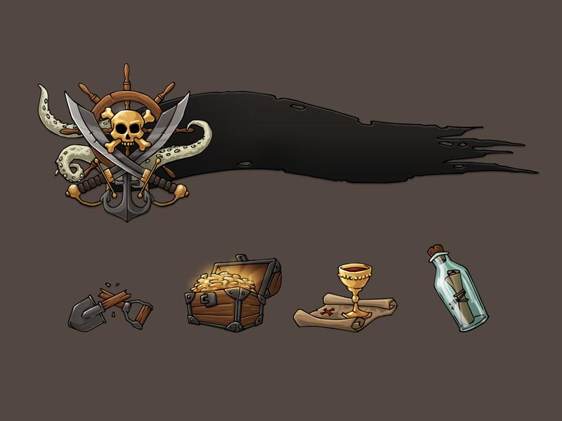 Pirate e-learning illustrations website illustration