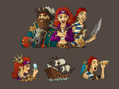 Pirate e-learning illustrations website illustration