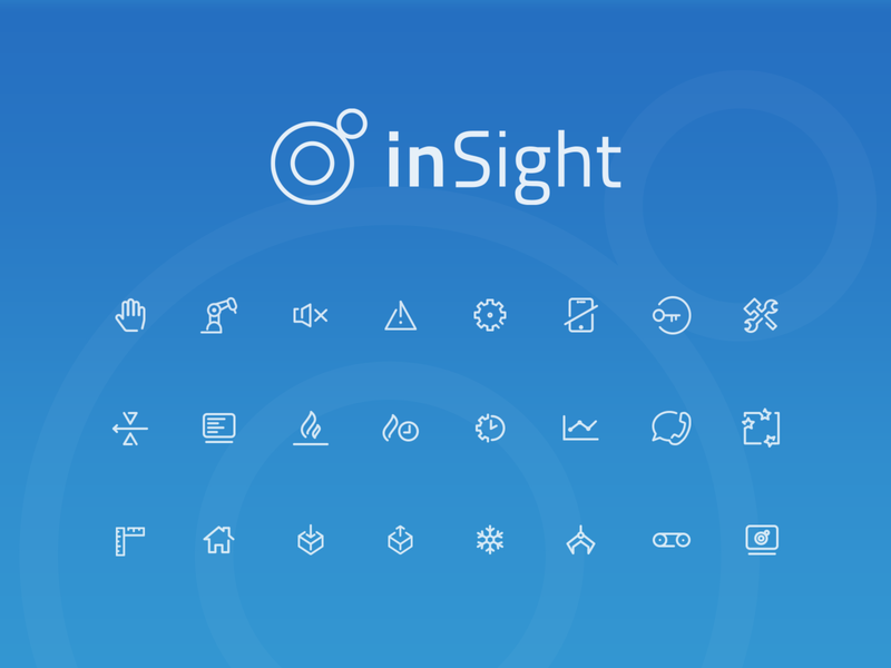 inSight icons design user interface