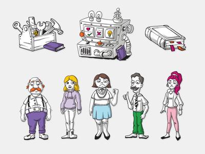 Non-formal education illustrations