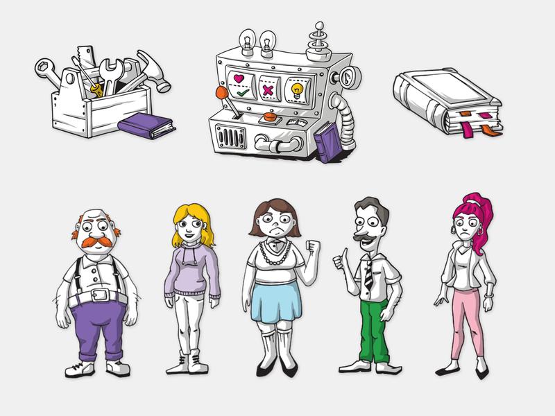 Non-formal education illustrations website illustration