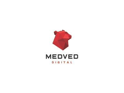 MEDVED / Bear Digital balalaika vodka digital tambov polygon triangl simple russian rus red m bear