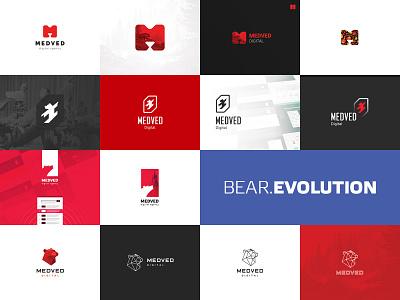 Bear Evolution color three russia many tambov medved red pack logo bear