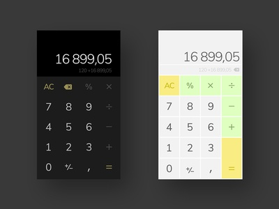 Mobile Calculator UI challenge calculator app application mobile dailyui004 004 dailyui