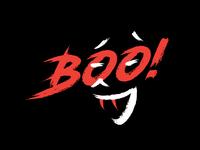Halloween Boo Poster logo horror scarry book helloween