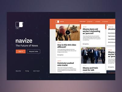 Navize.com Landing Page navize navize.com landing photoshop news grid beta wip layout