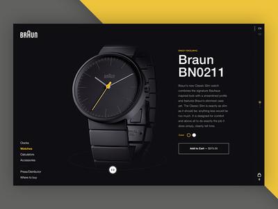 Braun fashion watch braun