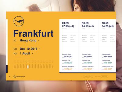 Airline Flight Results V2 prices list cards desktop web concept interface design lufthansa airline flights