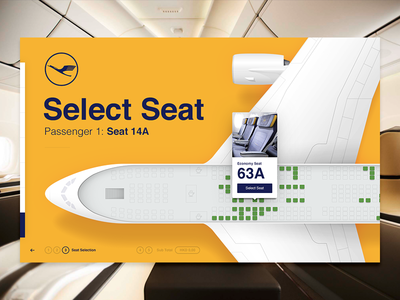 Seat Selector select photoshop plane seat lufthansa aviation airline