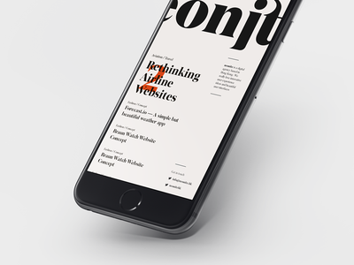 Neonite Blog fonts type typography ios iphone mobile editorial layout design agency blog neonite