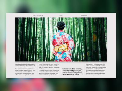 Editorial Layout #2 japan photo grid typography layout design digital journal travel screen editorial