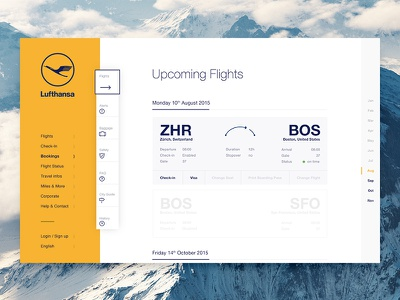 Airline Upcoming Flights travel check-in bookings desktop lufthansa flight airline