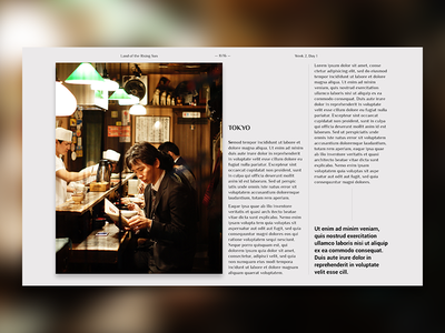 Editorial Layout #3 japan photo grid typography layout design digital journal travel screen editorial