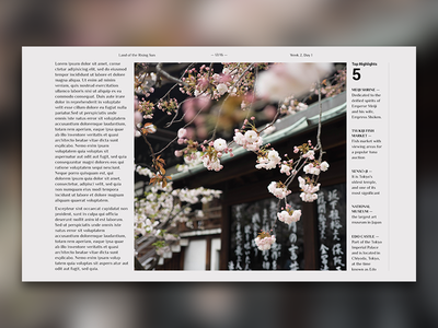 Editorial Layout #4 editorial screen travel journal digital design layout typography grid photo japan