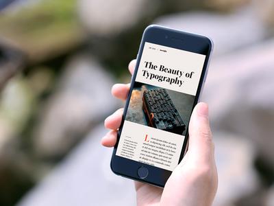 Blog Detail Exploration responsive mobile photoshop image typography text editorial design exploration neonite detail blog