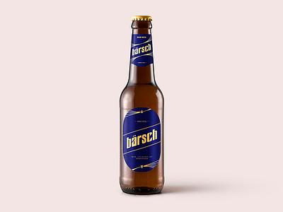 Beer Bottle Label Design typography custom font text label bottle beer design