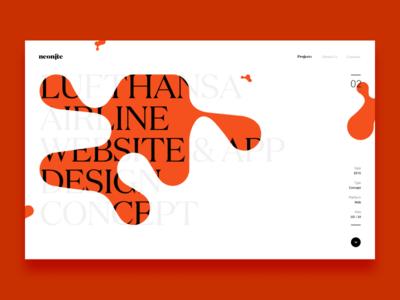 Homepage exploration portfolio typography ux ui design experiment exploration homepage