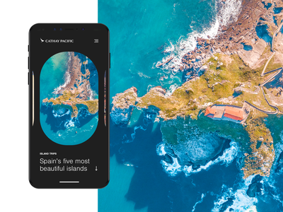 Travel Stories App ui ux typography design concept photography stories cathay pacific airline travel spain app